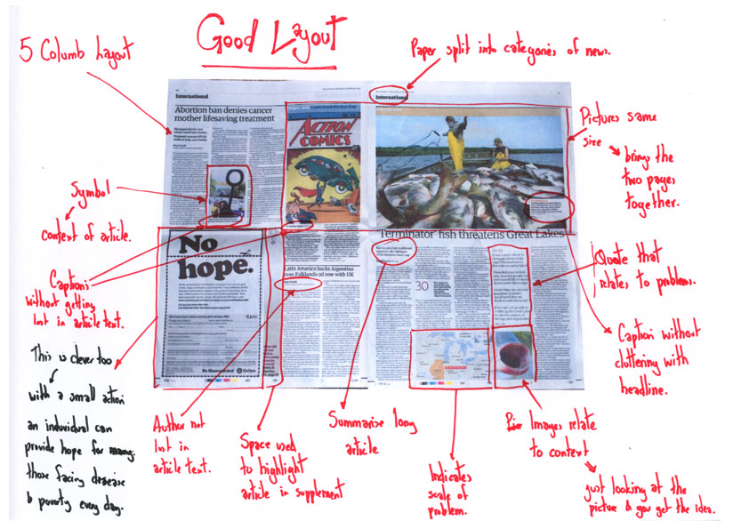 how to write in newspaper format